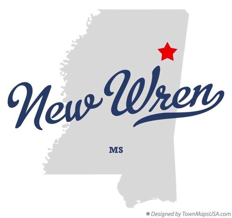 Map of New Wren Mississippi MS