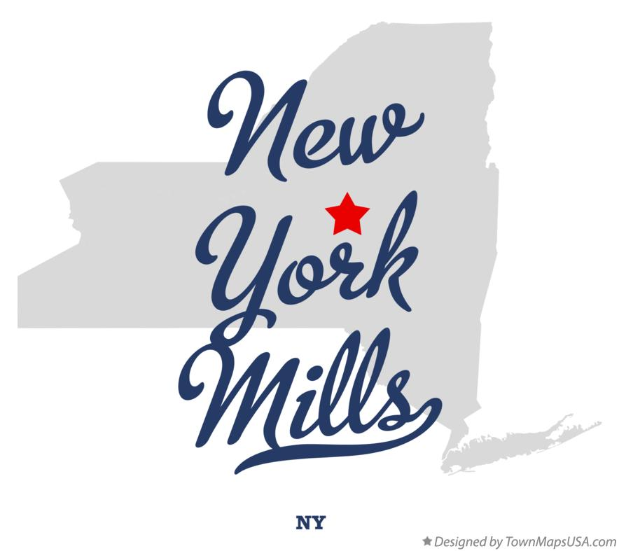 Map of New York Mills New York NY