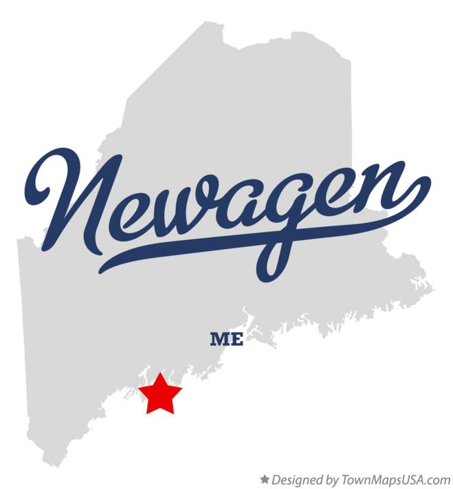 Map of Newagen Maine ME