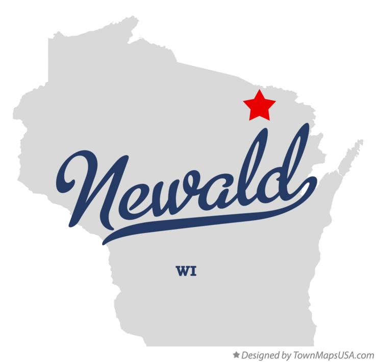 Map of Newald Wisconsin WI