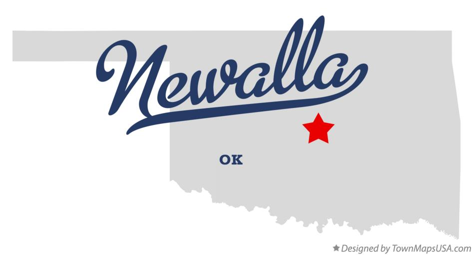 Map of Newalla Oklahoma OK