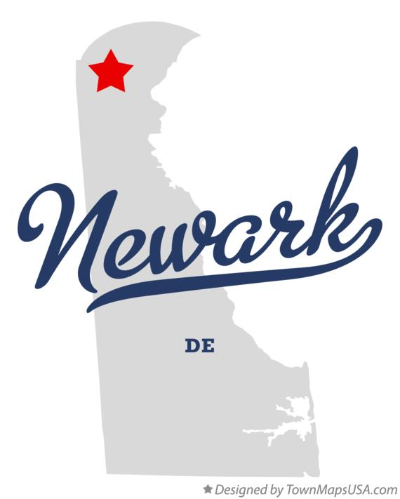 Map of Newark Delaware DE