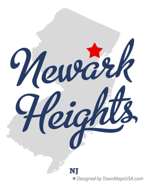 Map of Newark Heights New Jersey NJ