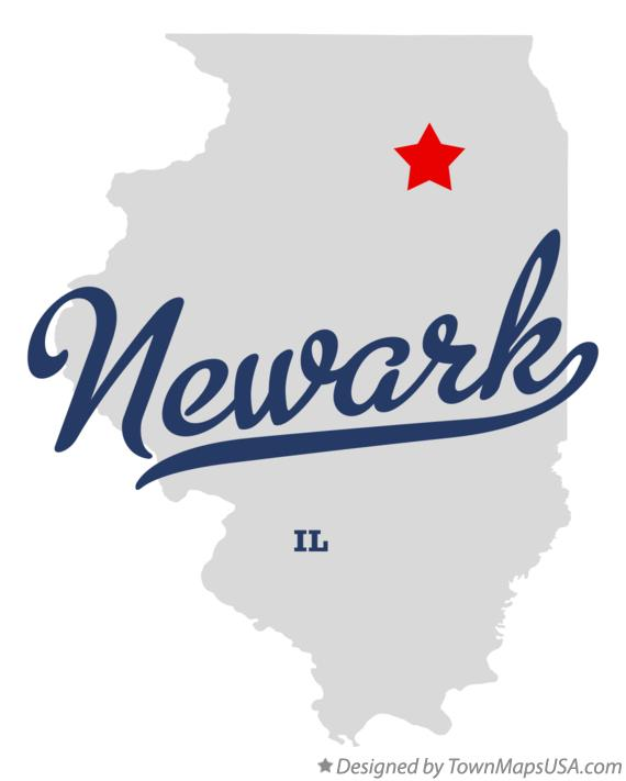 Map of Newark Illinois IL