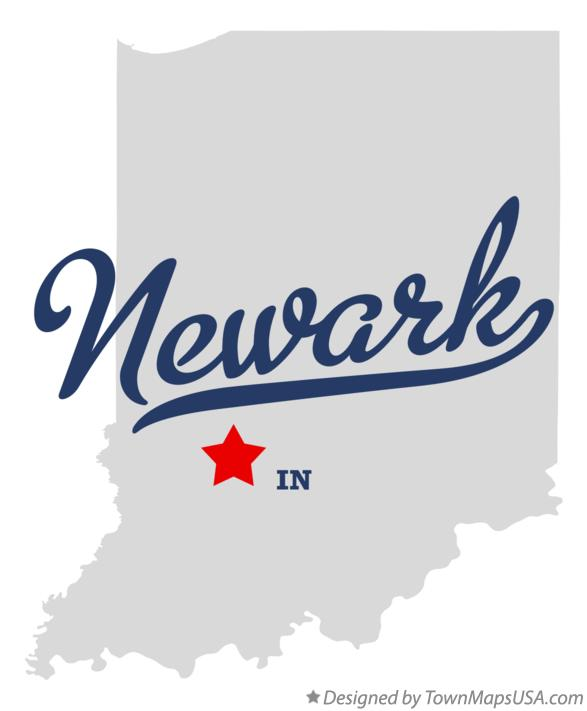Map of Newark Indiana IN