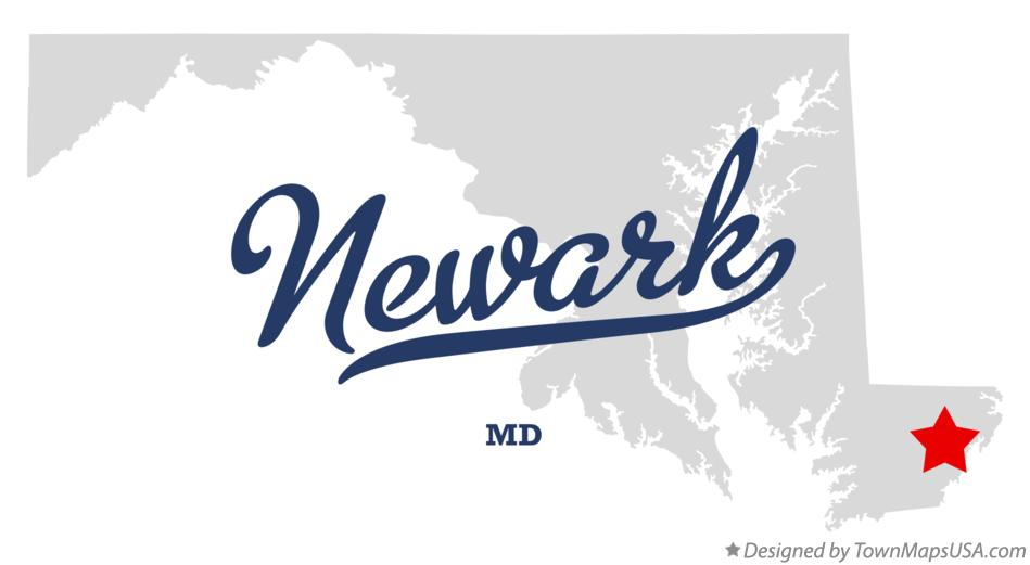 Map of Newark Maryland MD