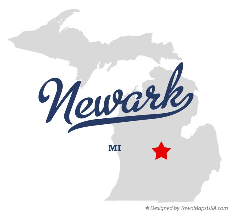 Map of Newark Michigan MI