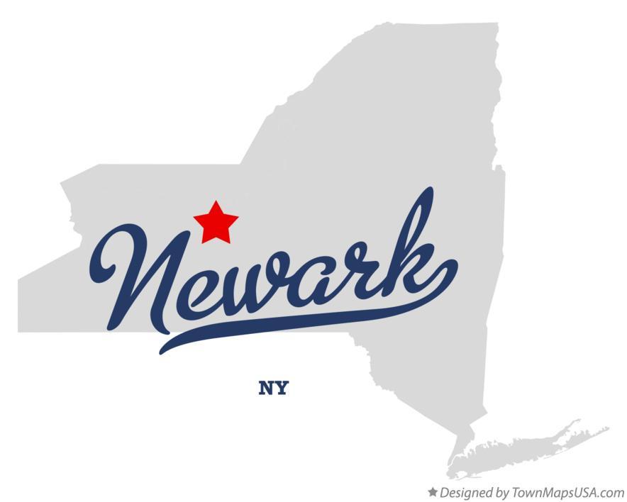 New York Newark Map Map of Newark New York ny