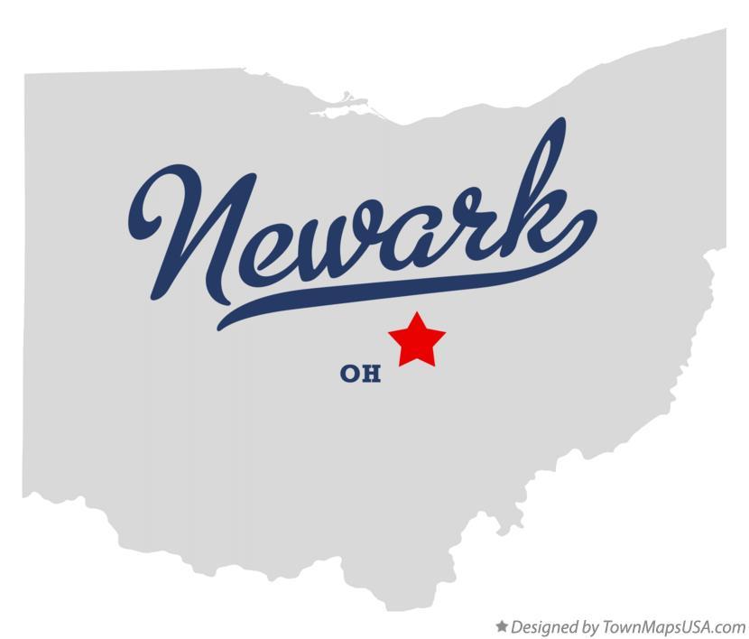 Map Of Newark Oh Ohio