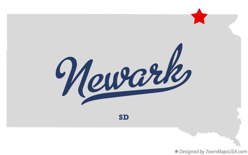 Map of Newark South Dakota SD