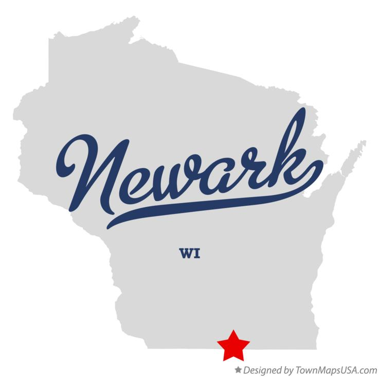 Map of Newark Wisconsin WI