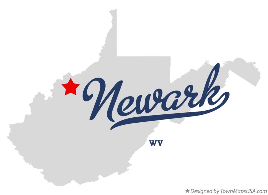 Map of Newark West Virginia WV