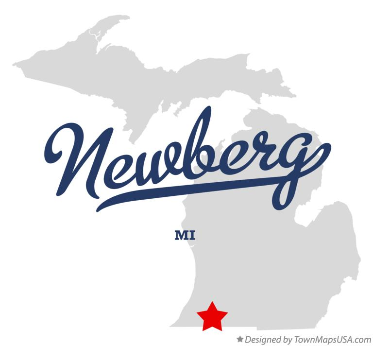 Map of Newberg Michigan MI