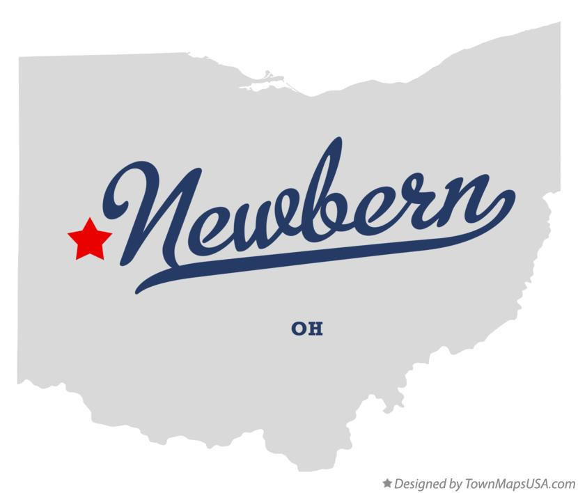 Map of Newbern Ohio OH
