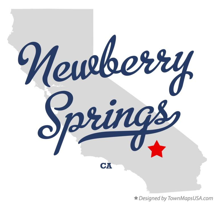 Map of Newberry Springs California CA