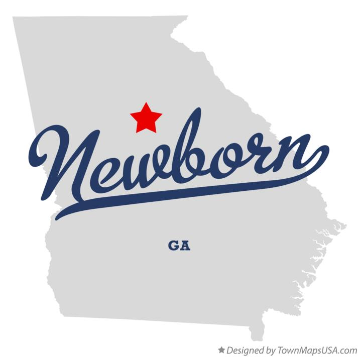 Map of Newborn Georgia GA