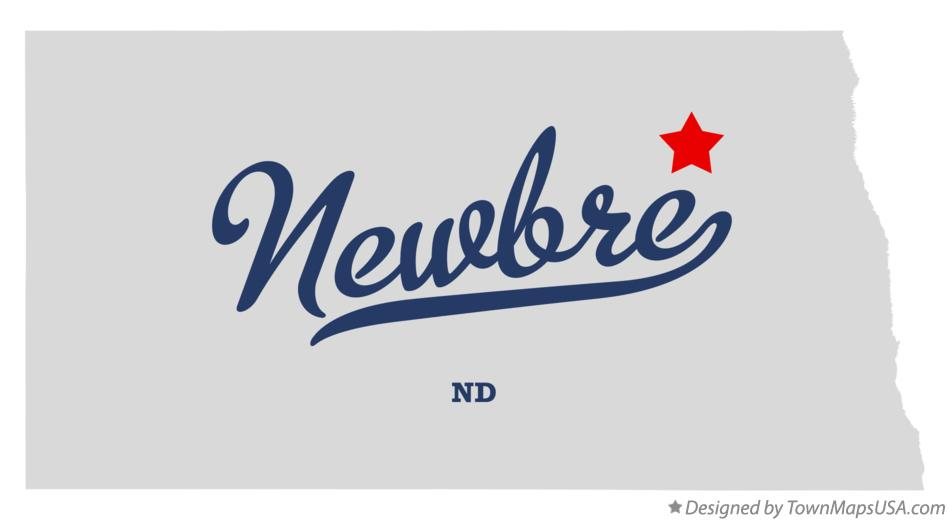 Map of Newbre North Dakota ND