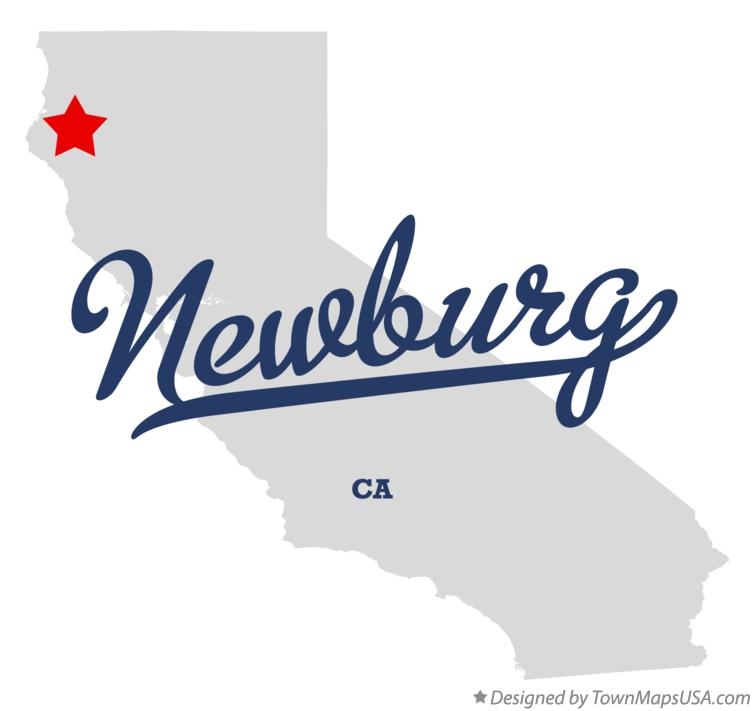 Map of Newburg California CA
