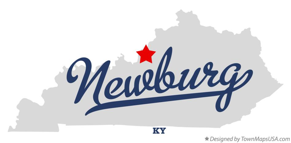 Map of Newburg Kentucky KY