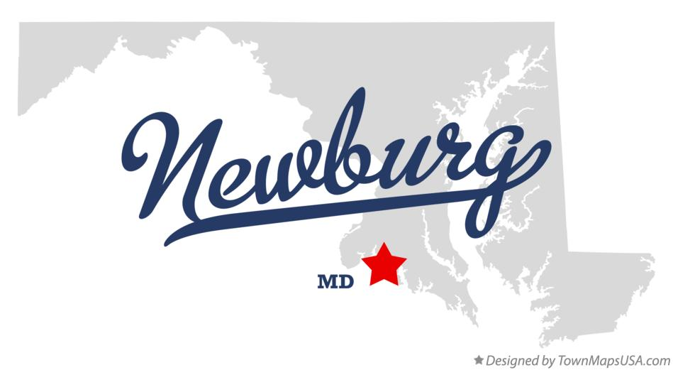 Map of Newburg Maryland MD