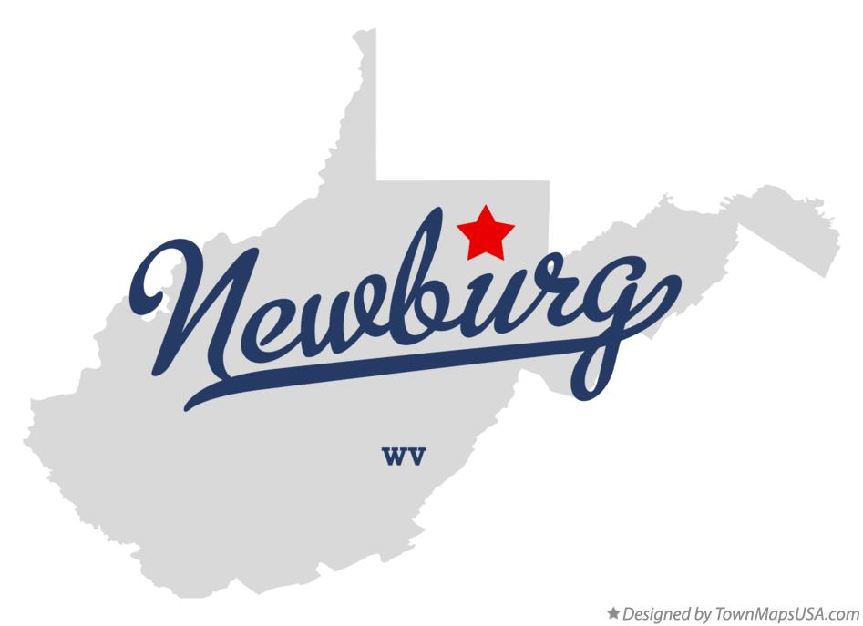 Map of Newburg West Virginia WV