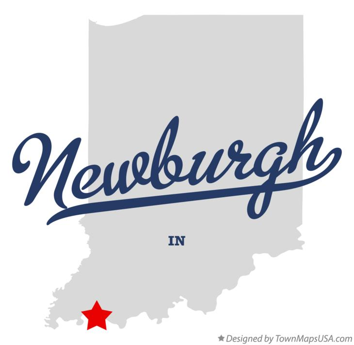 Map of Newburgh Indiana IN
