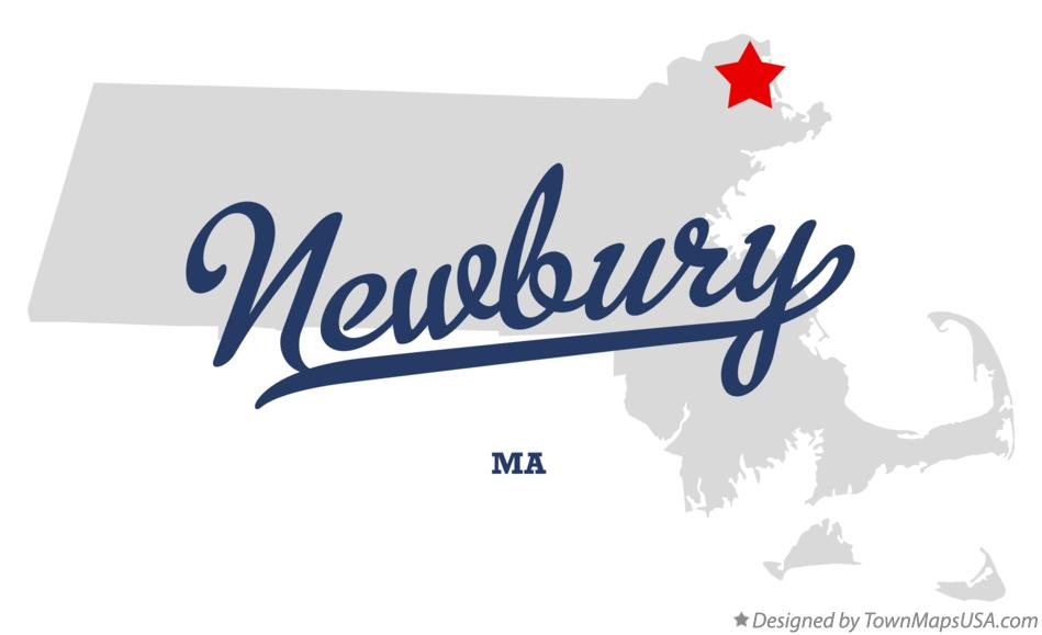 Map of Newbury Massachusetts MA