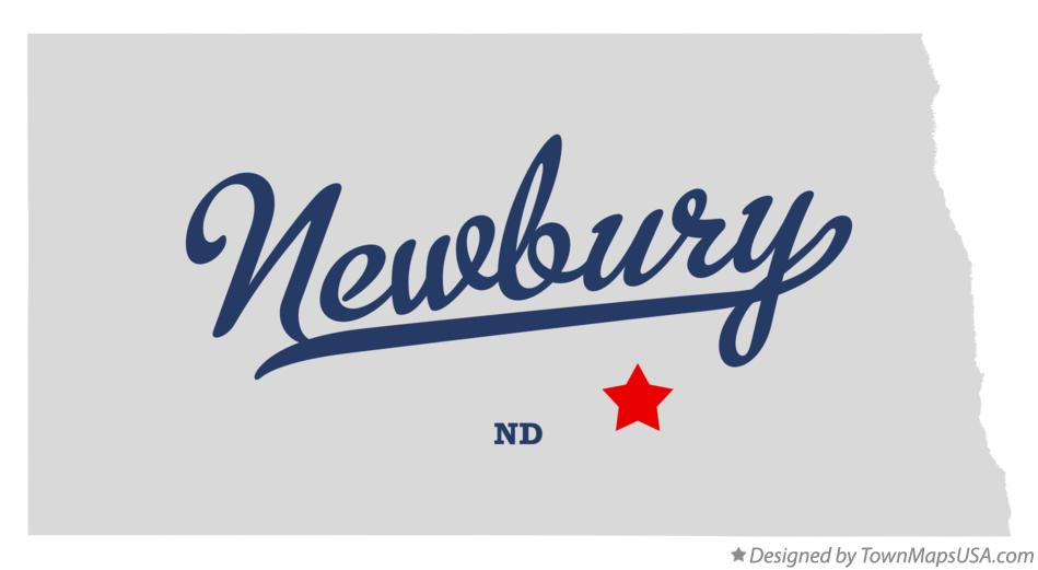 Map of Newbury North Dakota ND
