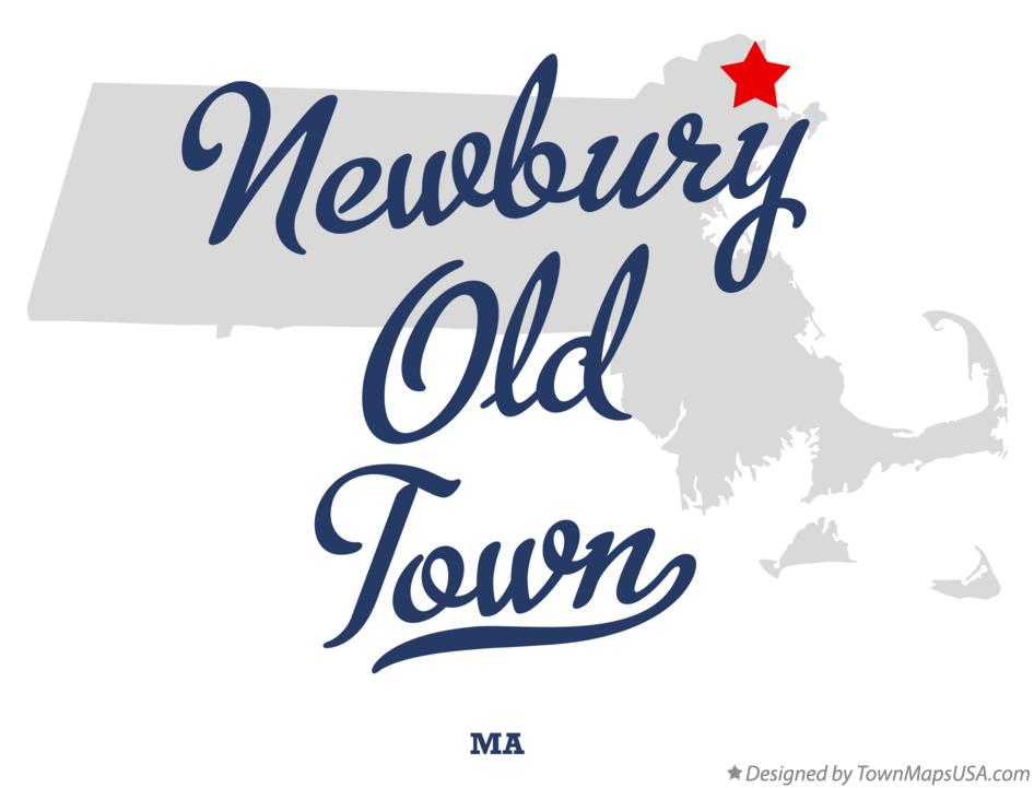 Map of Newbury Old Town Massachusetts MA