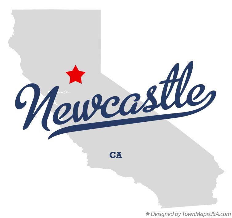 Map of Newcastle California CA