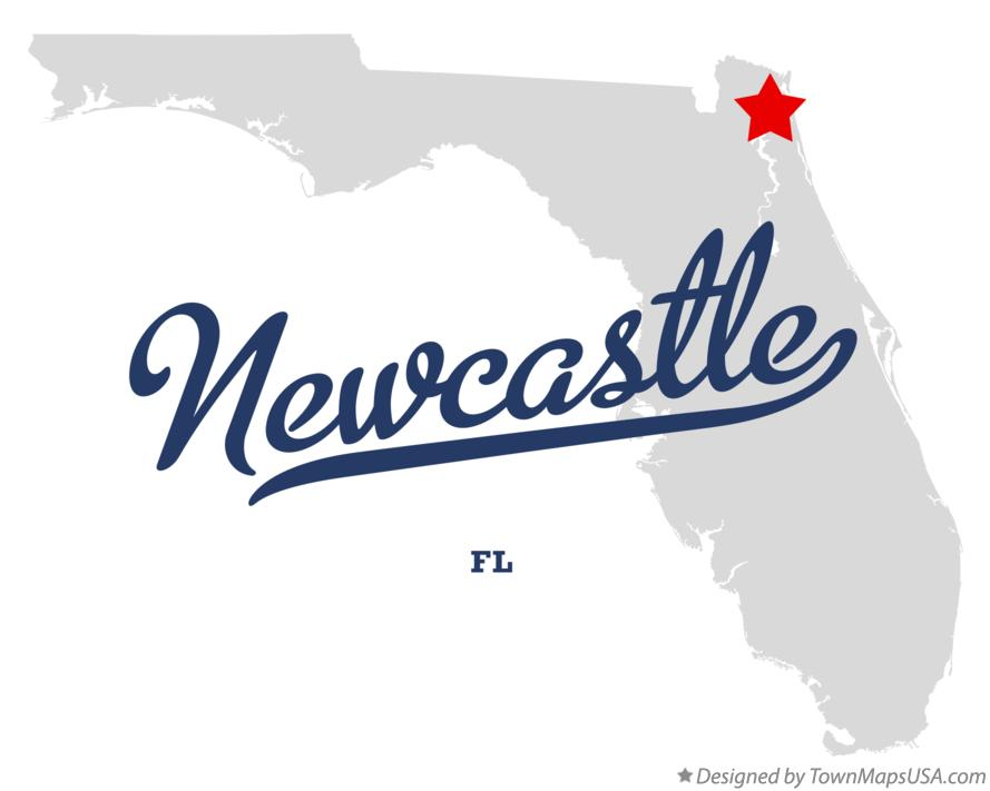 Map of Newcastle Florida FL