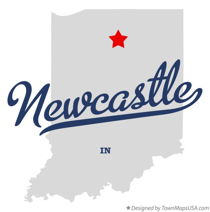 Map of Newcastle Indiana IN