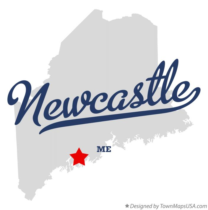 Map of Newcastle Maine ME