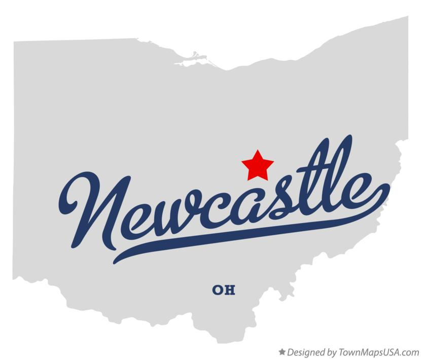 Map of Newcastle Ohio OH