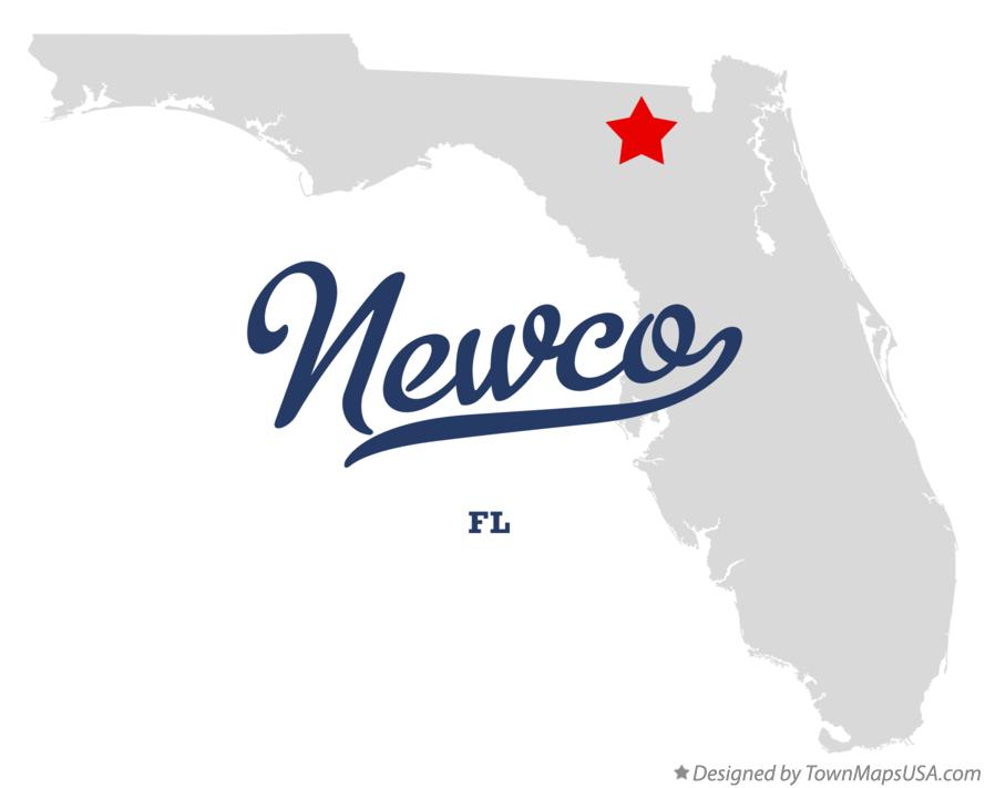 Map of Newco Florida FL