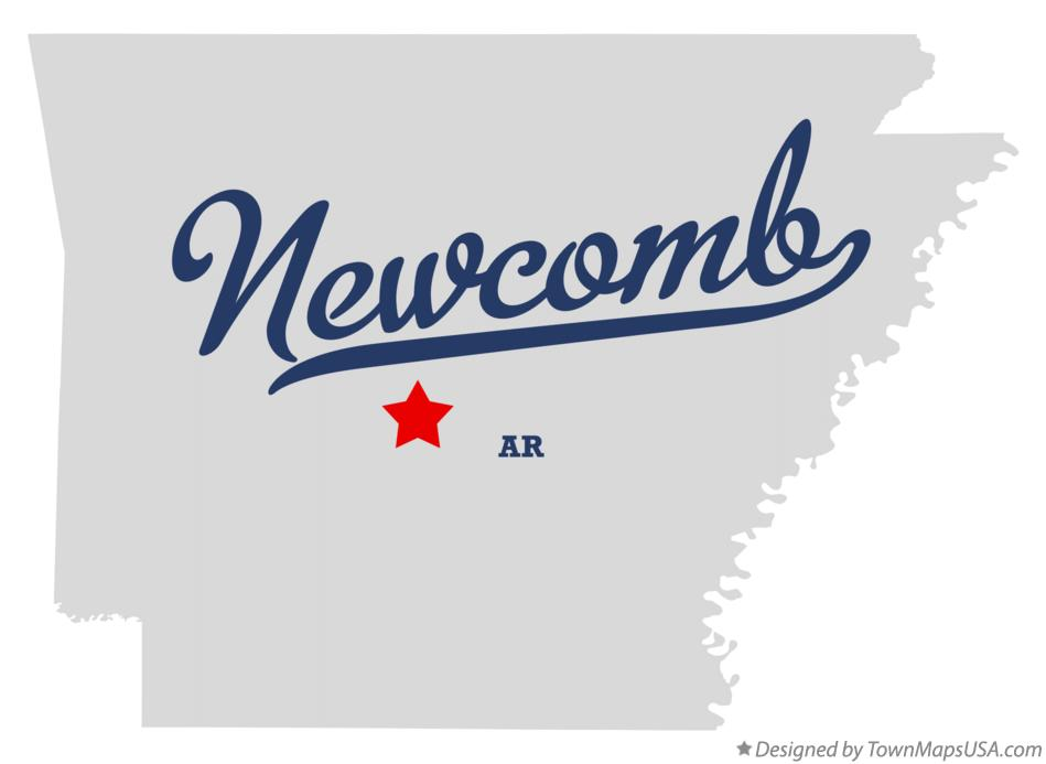 Map of Newcomb Arkansas AR