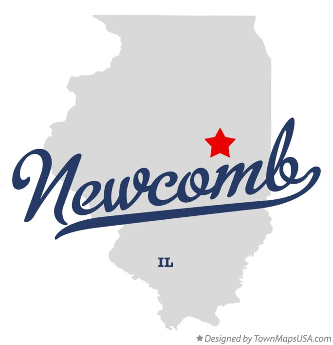 Map of Newcomb Illinois IL