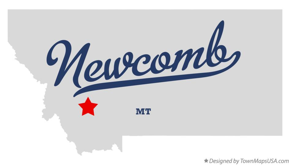 Map of Newcomb Montana MT