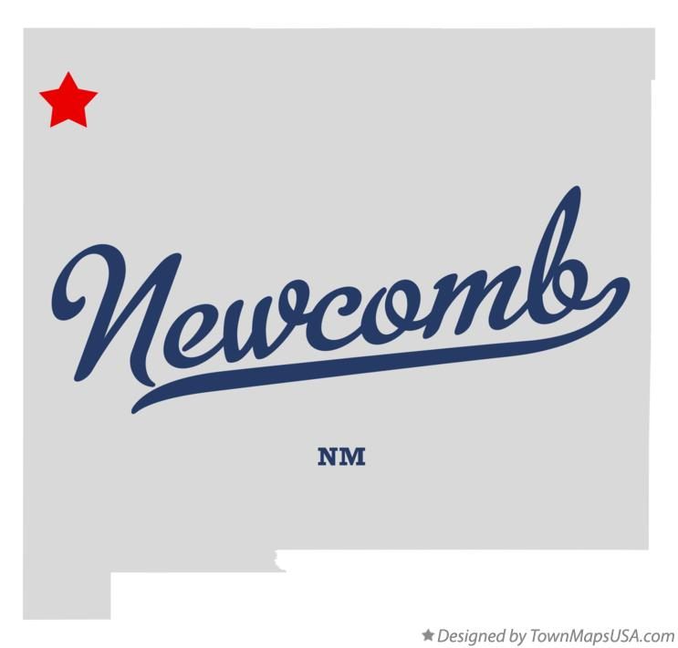 Map of Newcomb New Mexico NM