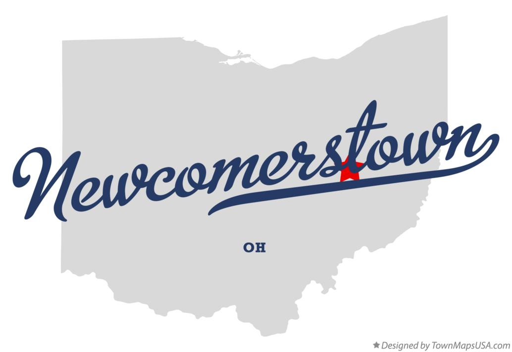 Map of Newcomerstown Ohio OH