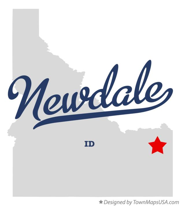Map of Newdale Idaho ID