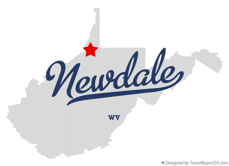 Map of Newdale West Virginia WV