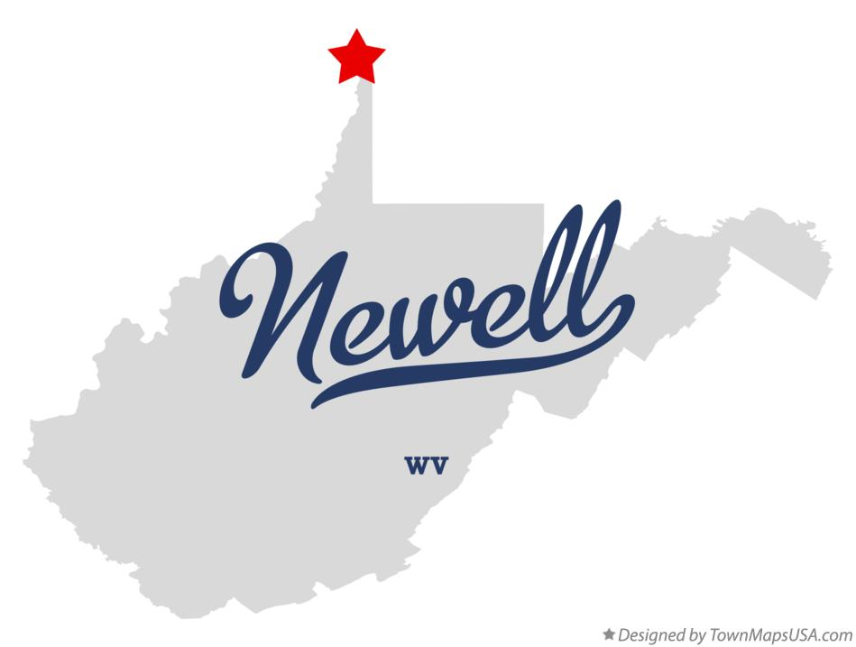 Map of Newell West Virginia WV