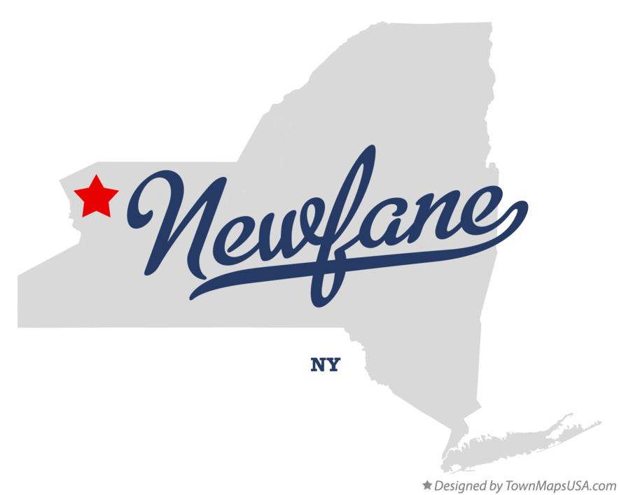 Map of Newfane New York NY