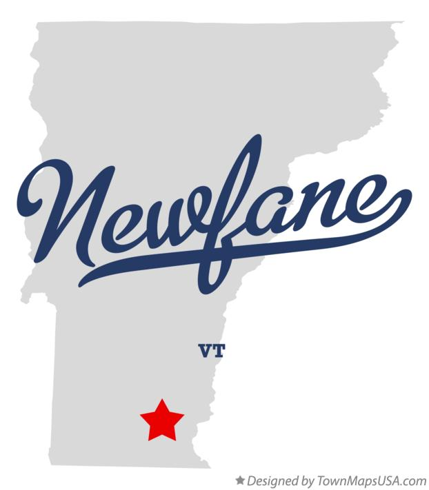 Map of Newfane Vermont VT
