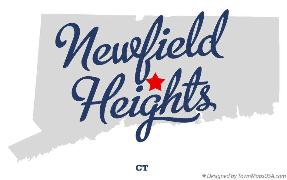 Map of Newfield Heights Connecticut CT
