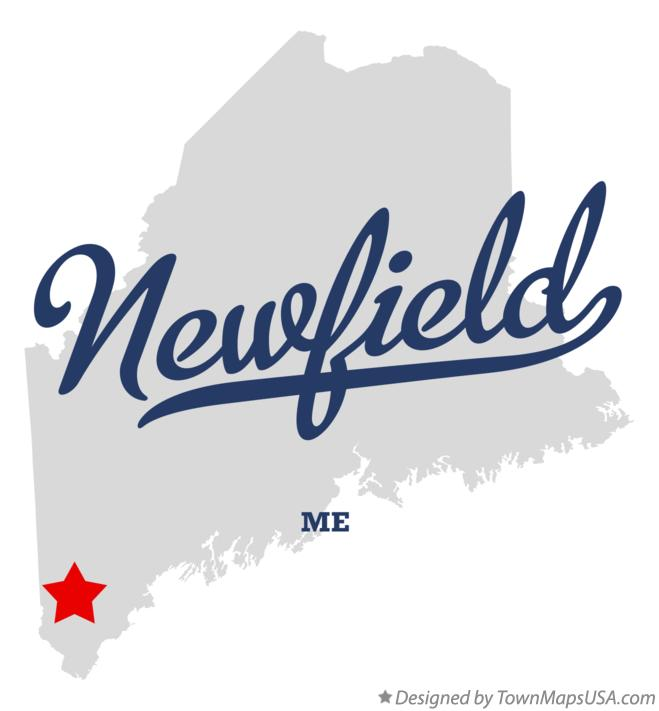 Map of Newfield Maine ME