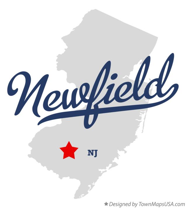 Map of Newfield New Jersey NJ