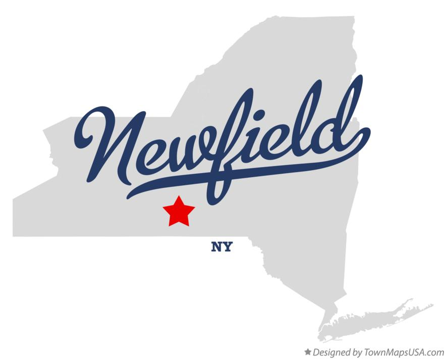 Map of Newfield New York NY