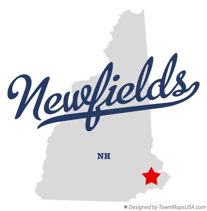 Map of Newfields New Hampshire NH